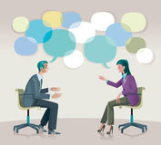 Treinando uma comunicação ilustração do vetor
