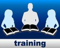 Treinar registra as mostras que aprendem a instrução e a instrução ilustração stock