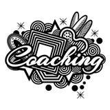 treinar Texto da tipografia da rotulação da mão doodles Ilustrador do vetor ilustração do vetor