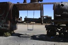 Treinbegraafplaats, Uyuni Bolivië stock fotografie