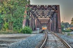 Treinbrug stock fotografie