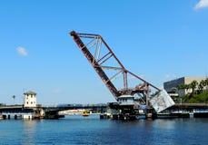 Treinbrug in Tamper, Florida Stock Foto