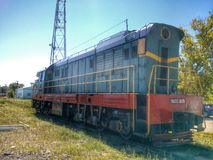 Treine a locomotiva Foto de Stock Royalty Free