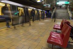 Treine na estação Foto de Stock Royalty Free