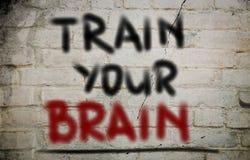 Treine seu Brain Concept Foto de Stock Royalty Free