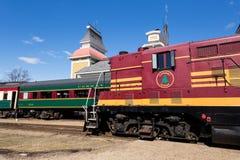 Treinen in Conway Scenic Railway Stock Foto's