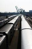 Treinen en Sporen Royalty-vrije Stock Afbeeldingen