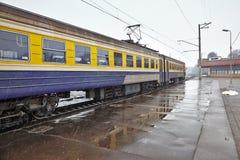 Treinen op staion Stock Afbeelding