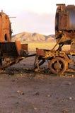 Treinen Salar DE Uyuni, Bolivië Stock Afbeeldingen