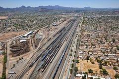 Treinen in Tucson royalty-vrije stock fotografie