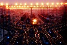 Treinen in wuhan Stock Fotografie