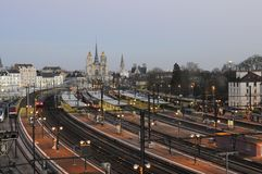 Treinenpost, Dijon royalty-vrije stock foto's