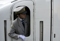 Treinleider Shenkansen Royalty-vrije Stock Afbeelding