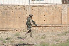 Treino militar de Afeganistão fotografia de stock
