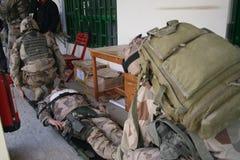 Treino militar de Afeganistão imagem de stock
