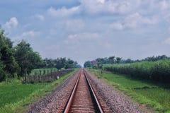 Treinspoorweg Stock Afbeelding