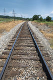 Treinsporen in Luray, Virginia Royalty-vrije Stock Afbeelding