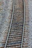 Treinsporen - sluit omhoog stock foto