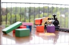 Treinstuk speelgoed Royalty-vrije Stock Afbeeldingen
