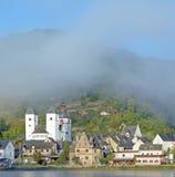 Treis-Karden, Mosel rzeka, Niemcy Obrazy Royalty Free