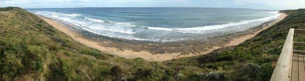 Treizième panorama de plage Images stock
