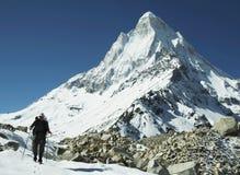Trek in berg Himalatan Royalty-vrije Stock Foto's