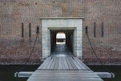 Trek Brug bij Fort Pulaski stock afbeelding