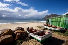 Trek de Stads groene loods van vissersbotensimon Royalty-vrije Stock Afbeeldingen