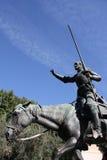 Trek Don Quichot aan royalty-vrije stock afbeelding