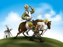 Trek Don Quichot aan Stock Afbeelding