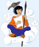 Trek Don Quichot aan stock illustratie