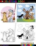 Trek Don Quichot voor het kleuren aan Royalty-vrije Stock Foto's