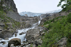 A trek in Folgefonna in Norway Royalty Free Stock Photo