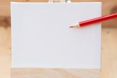 Trek het schilderen canvas lege ruimte voor tekst Royalty-vrije Stock Afbeelding