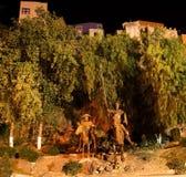 Trek het Standbeeld Guanajuato Mexico van Don Quichot aan stock afbeeldingen