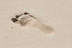 Trek in het zand stock afbeelding