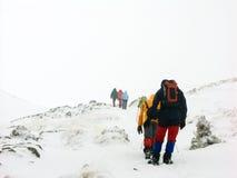 Trek in Karpatische berg Royalty-vrije Stock Foto