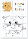 Trek kat op de cellen vector illustratie
