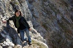 Trek in mountain royalty free stock image