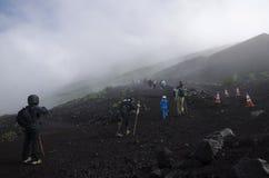 Trek on Mt. Fuji, Japan Stock Photo