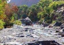 Trek in Nakhr Wadi - Oman stock photo