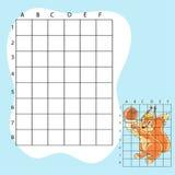Trek op de vierkanten Een leuke beeldverhaaleekhoorn royalty-vrije illustratie