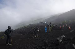 Trek på Mt fuji japan mt Arkivfoto