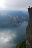 A trek for the Preikestolen Stock Photography