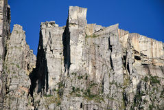 A trek for the Preikestolen Stock Image
