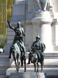 Trek Quijote en Sancho Pansa aan Royalty-vrije Stock Fotografie