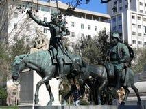 Trek Quijote en Sancho Pansa aan Royalty-vrije Stock Afbeeldingen