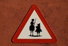 Trek Quijote en Sancho Panza aan    Royalty-vrije Stock Foto