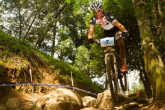 TREK Racing rider  at Momentum Health Int Stock Photography