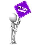 Trek rijken terug Stock Afbeelding